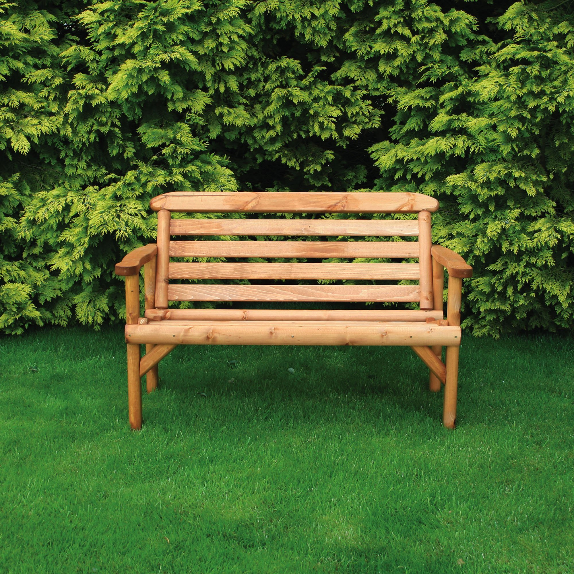 Anchor Fast Rustic 2 Seater Bench Simply Wood