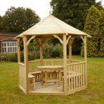 Buckingham Gazebo Standard with Table & 5 Benches 9360400 (3)