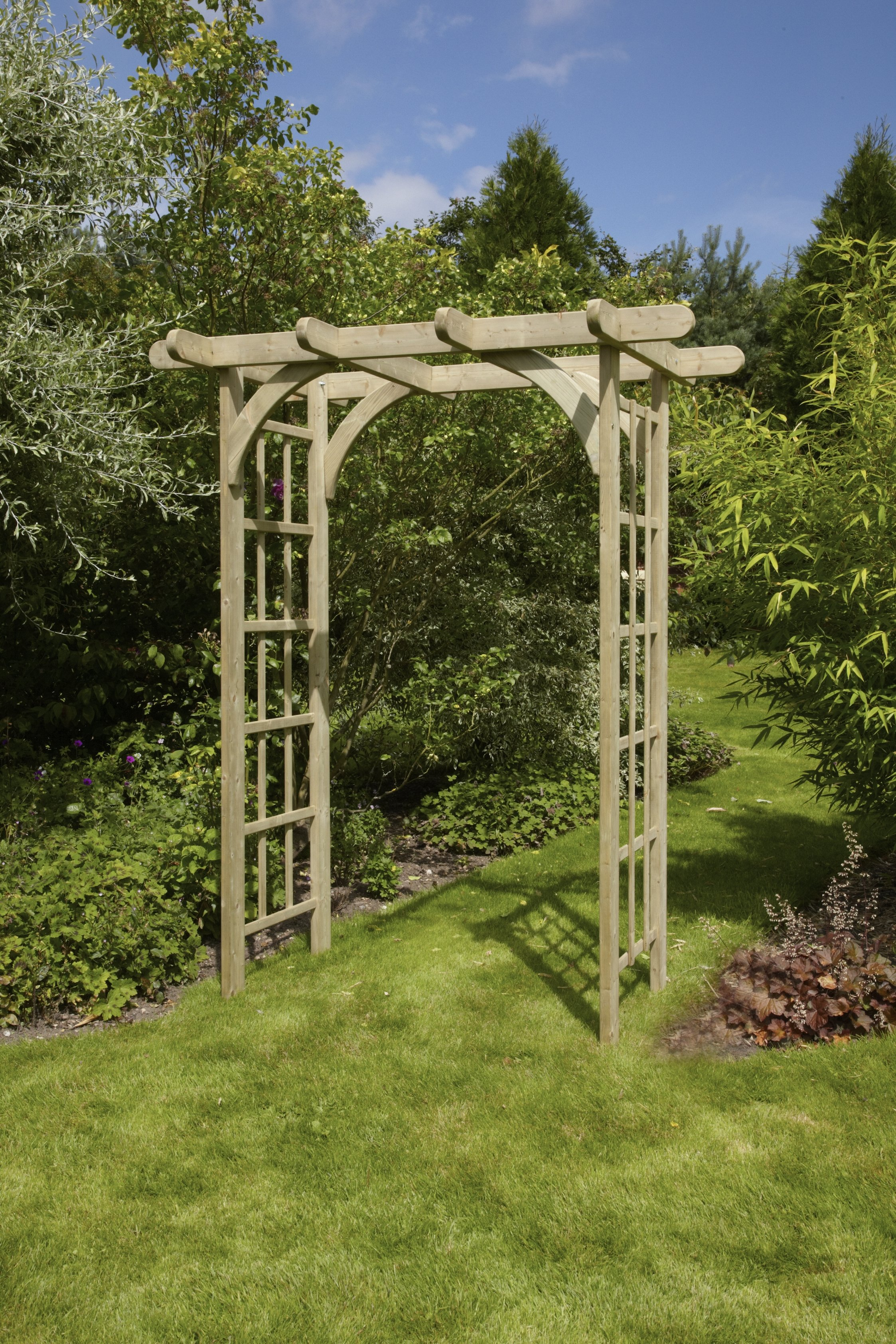 Anchor fast devon rose arch simply wood - Garden wood arches ...