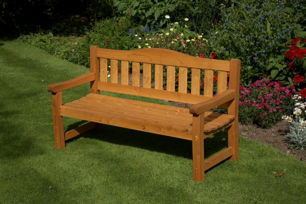 Anchor Fast Somerset 3 Seater Bench Simply Wood
