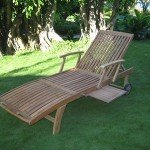 Oak Sun Lounger