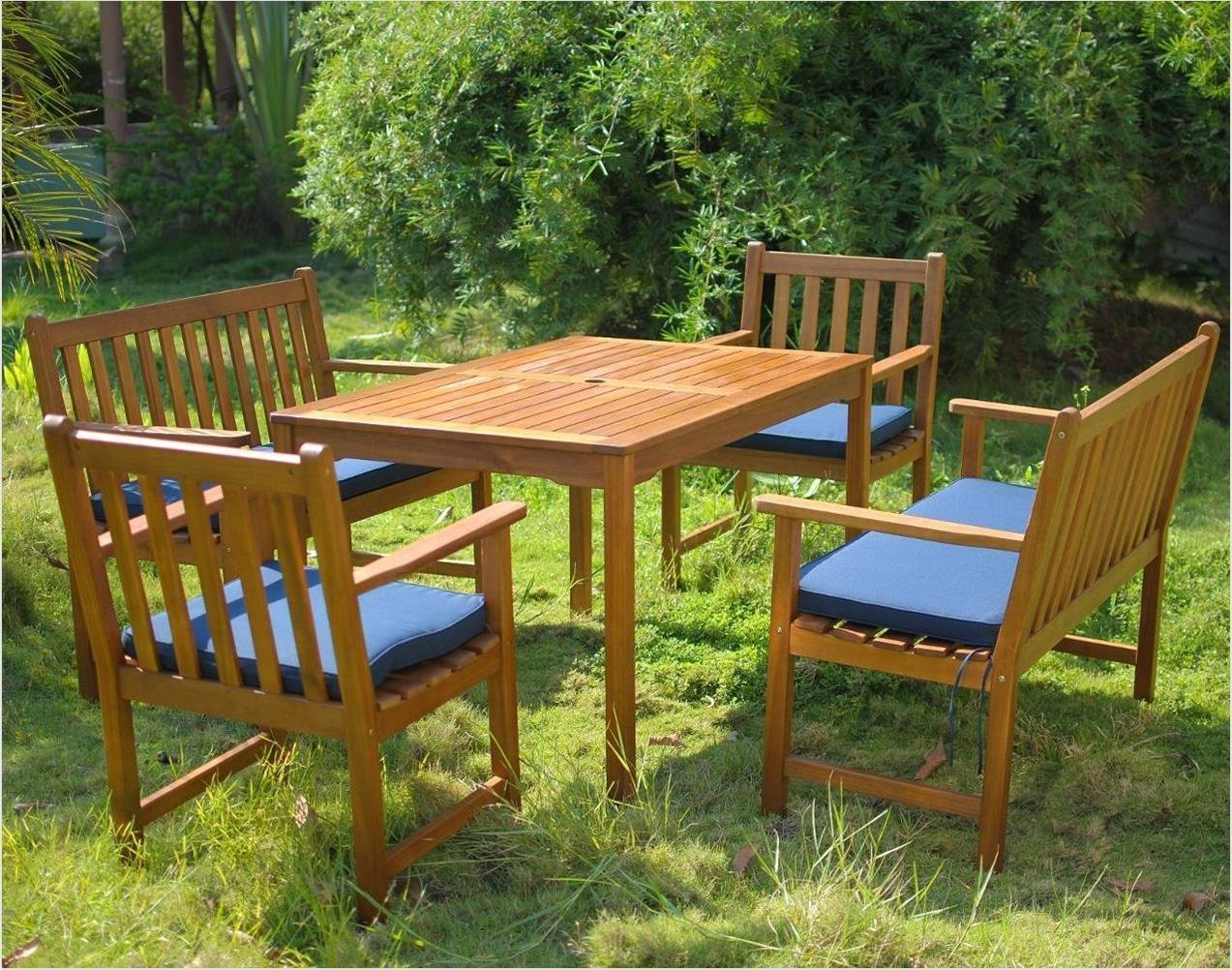 6 seater patio set with cushions simply wood for Best rated patio furniture