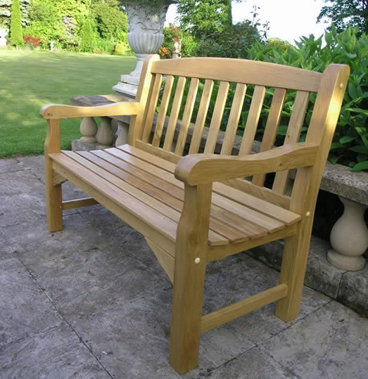 Solid Oak Garden Bench 2 Seater 4ft Simply Wood
