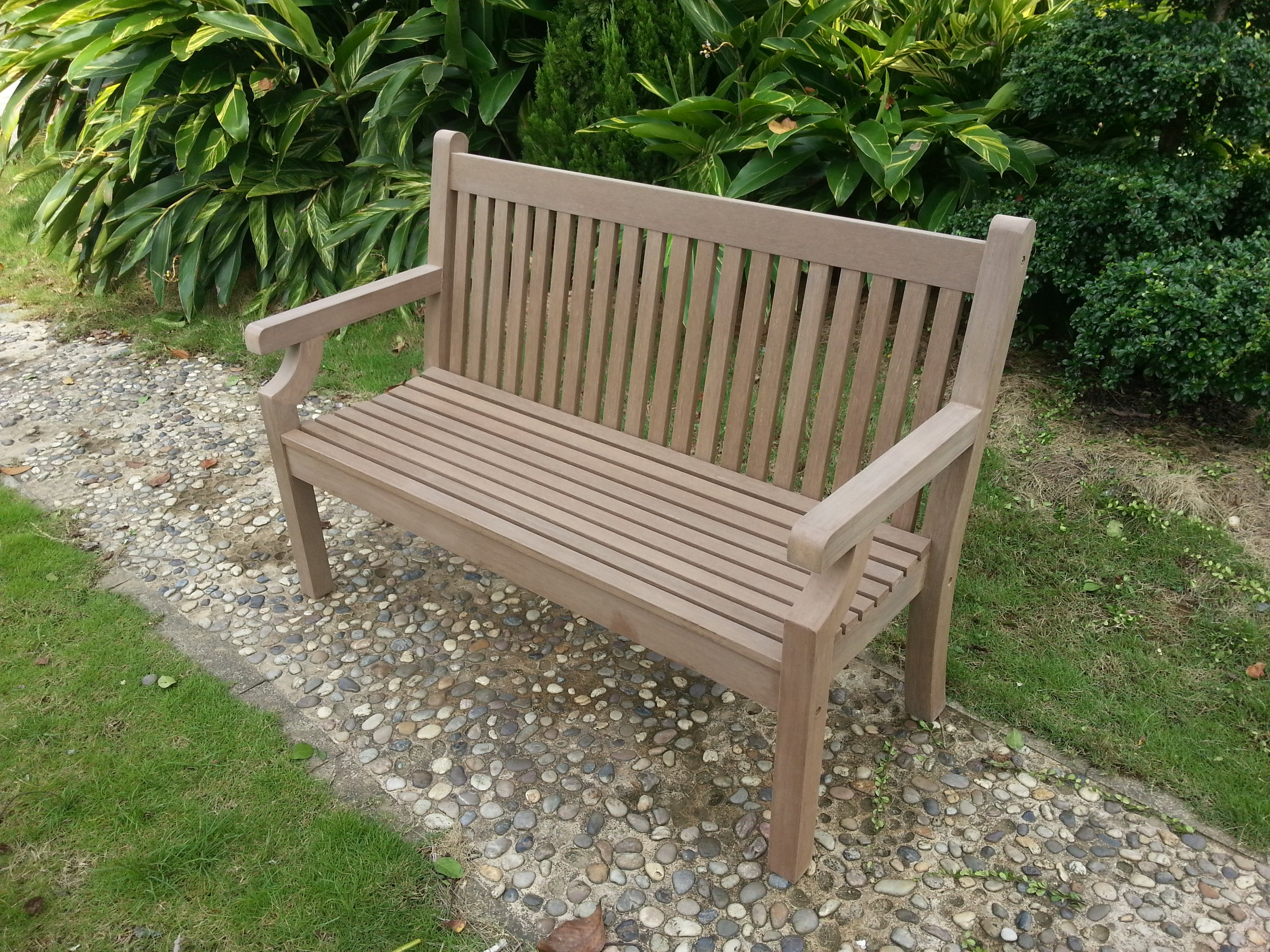 Memorial Bench 2 Seater In Brown Simply Wood