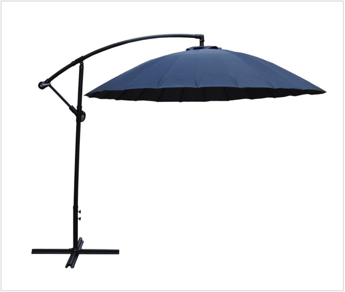 parasol 3m in grey simply wood. Black Bedroom Furniture Sets. Home Design Ideas