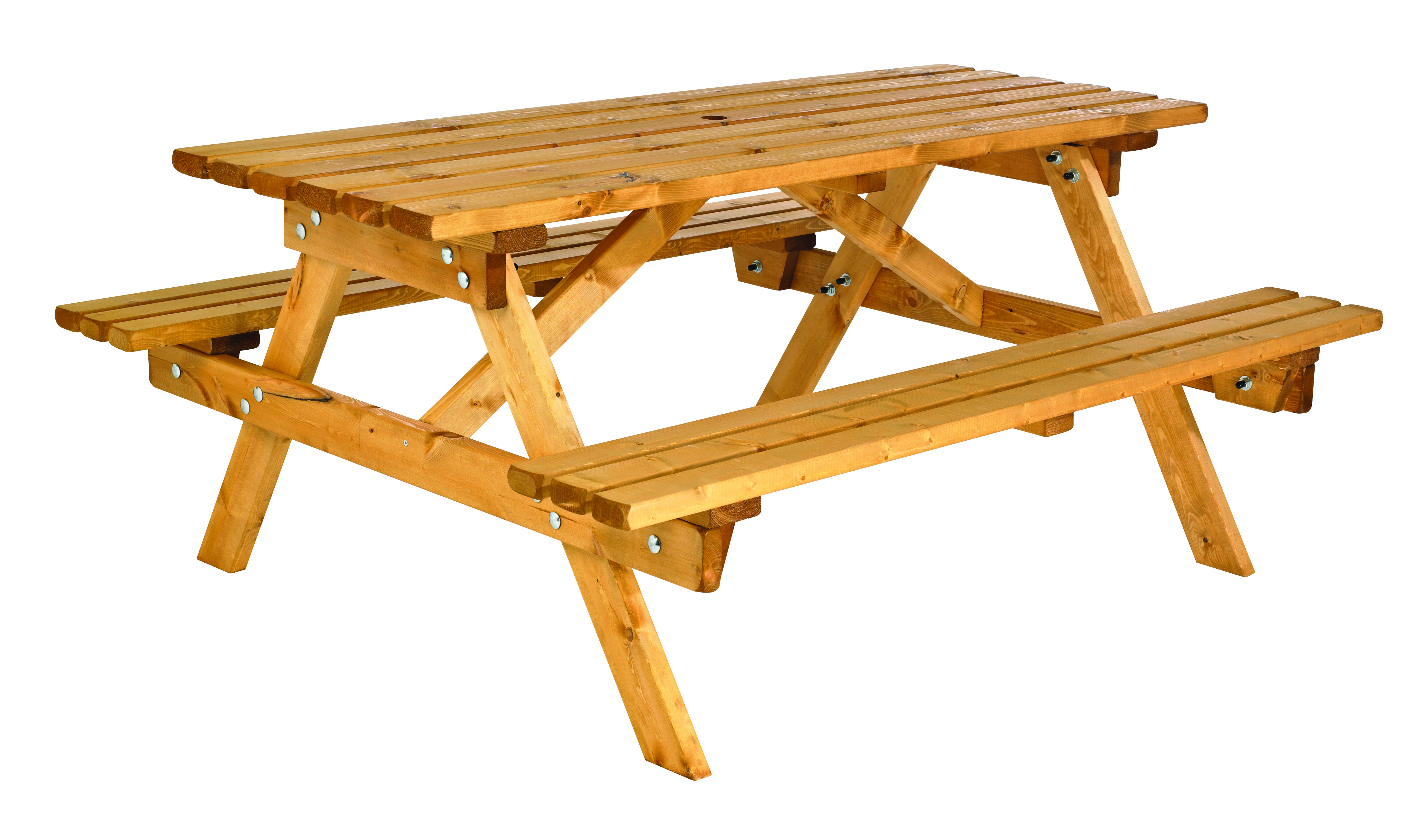 Cotswold 6 Seater Traditional Picnic Bench Simply Wood